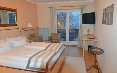 Komfortables Doppelzimmer, Kategorie A mit Balkon in Stoll's Hotel Alpina in Schönau am Königssee / Berchtesgaden