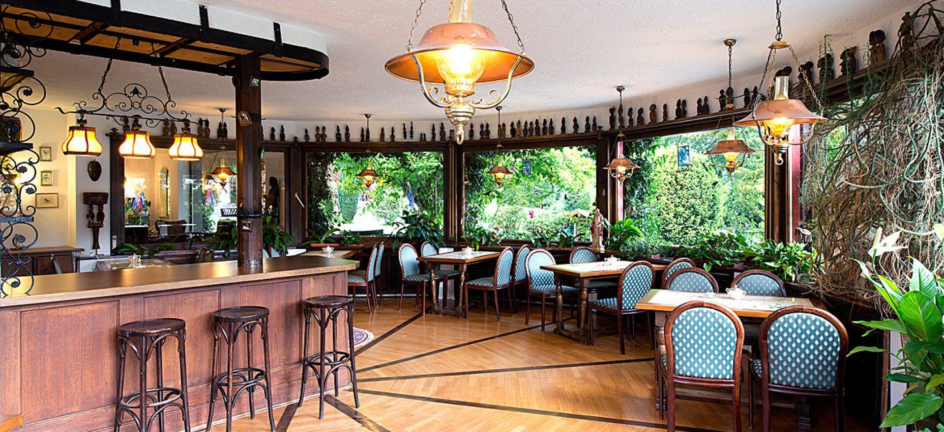 Der gemütliche Wintergarten Stoll's Hotel Alpina in Schönau am Königssee / Berchtesgaden