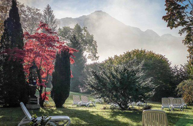 Berge und Nebel im Berchtesgadener Land