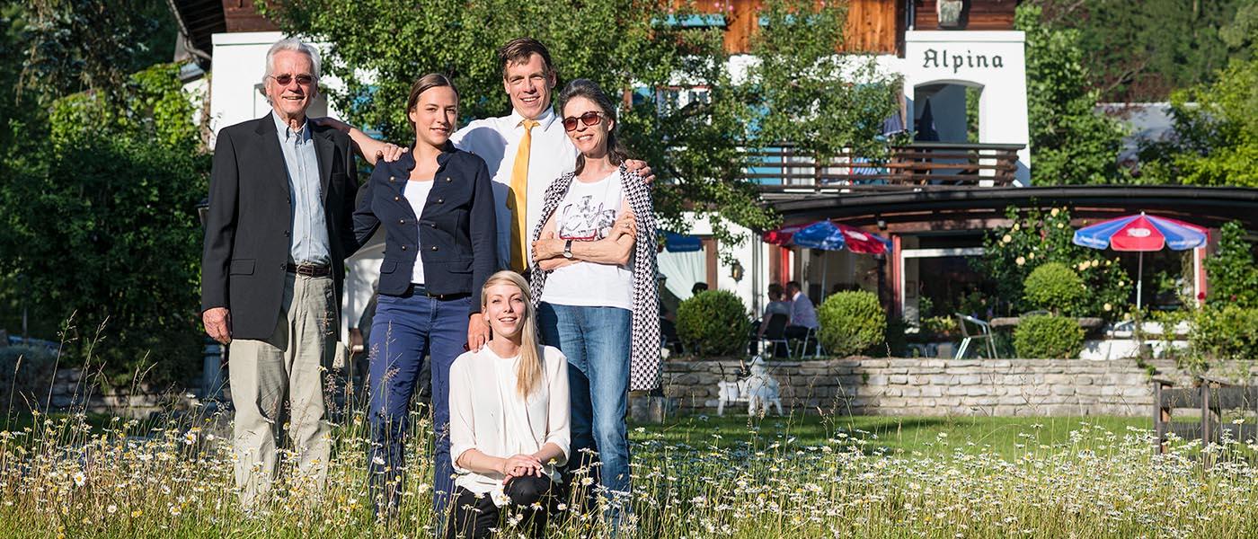 Familie Stoll von Stoll's Hotel Alpina in Berchtesgaden / Schönau am Königssee
