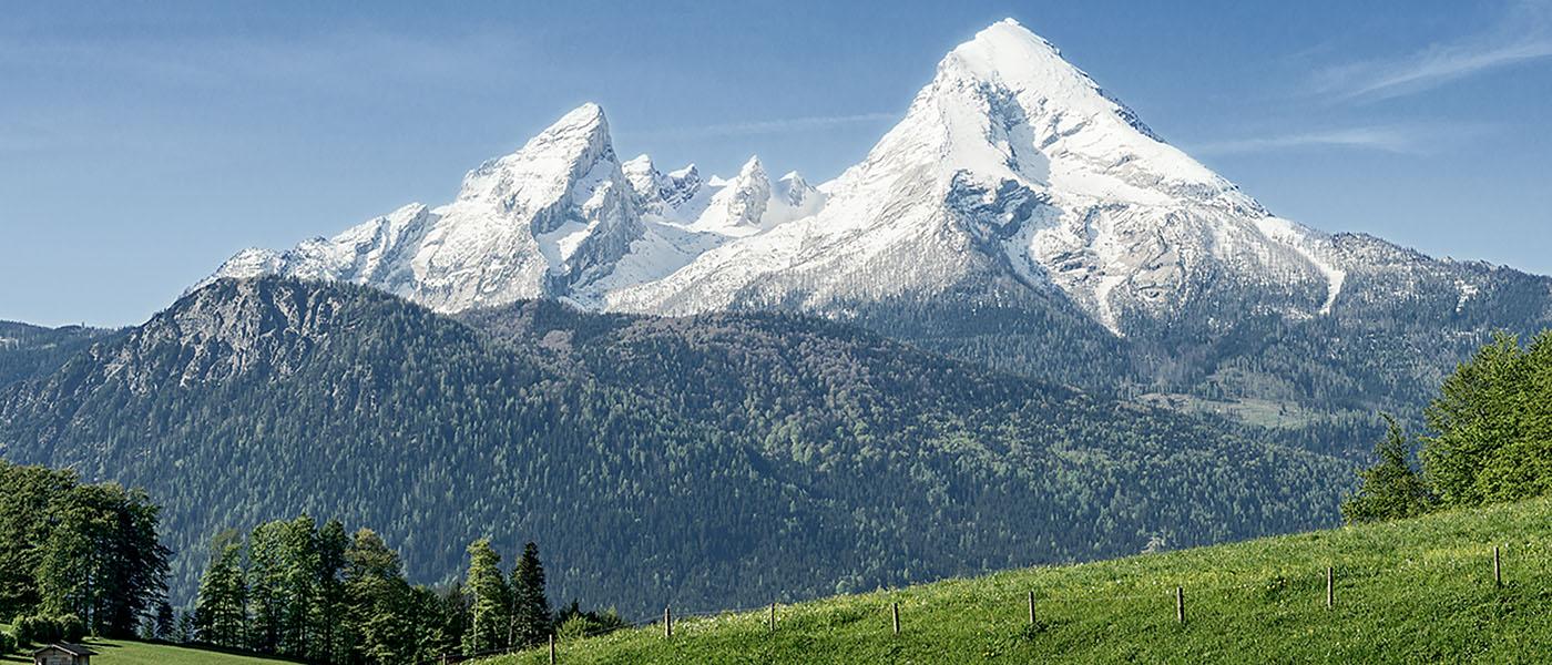 Ein Ausflugsziel für Ihren Urlaub im Berchtesgadener Land: Watzmann in den Berchtesgadener Alpen – Stoll's Hotel Alpina in Berchtesgaden / Schönau am Königssee