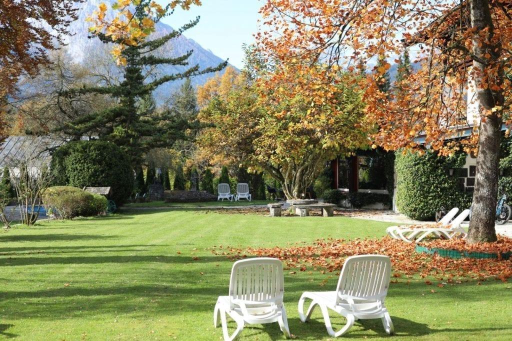 Der Garten in Stoll's Hotel Alpina, Schönau am Königssee / Berchtesgaden